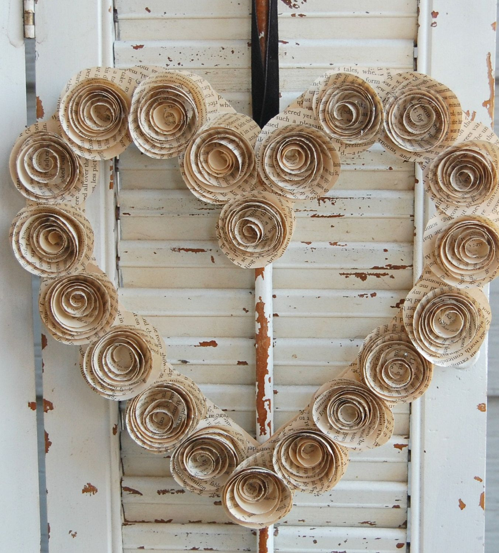 Photo of 12″ Little Women Book Wreath / Heart Wreath / Valentine Wreath /