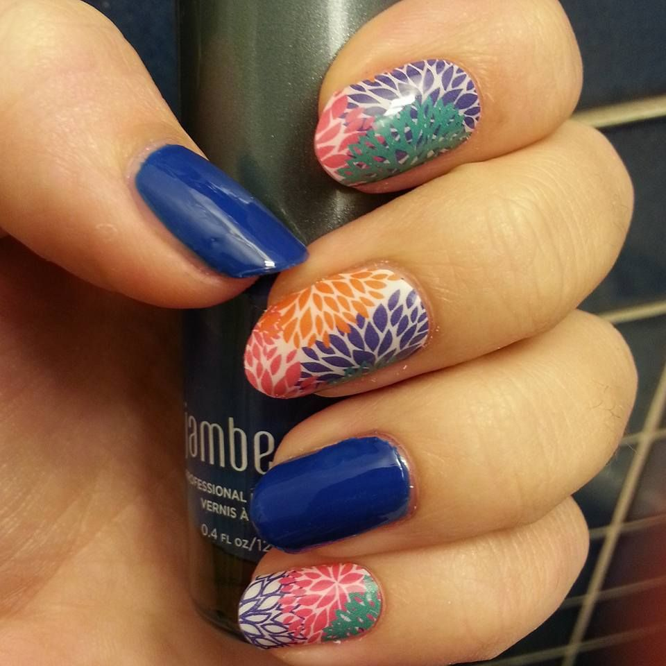Punchy puff with electric lacquer jamberry manicure easy nails