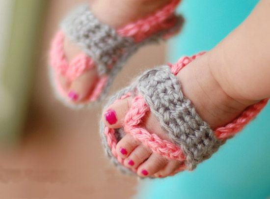 Crochet Baby Flip Flop Sandals, all I can say is Awwwwwww!!!