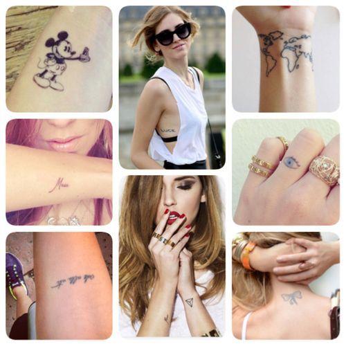 Tattoos on chiara ferragni on arms wrist and elbows tatouages de gumiabroncs Images