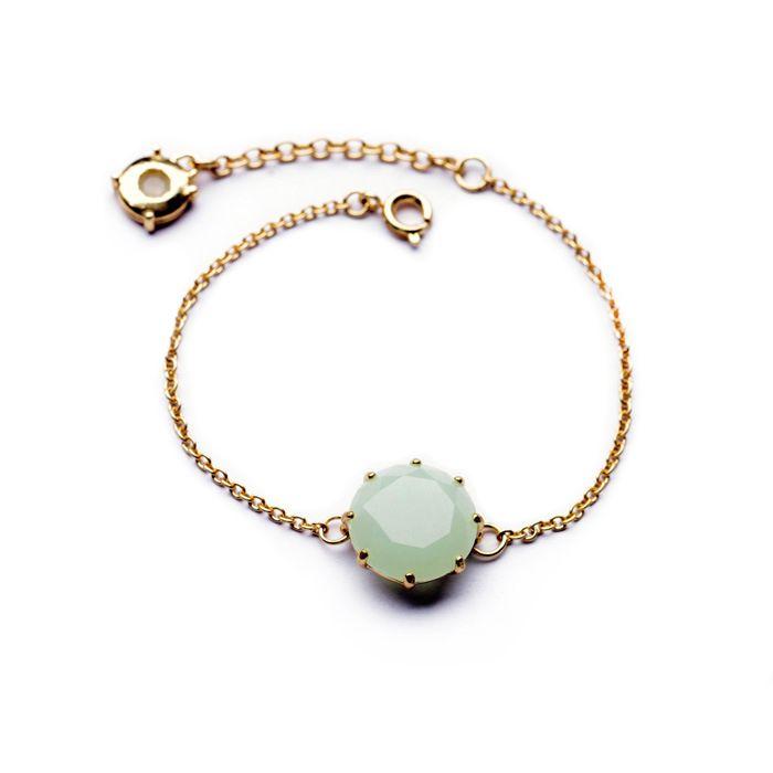 Sea Green Stone Bracelet
