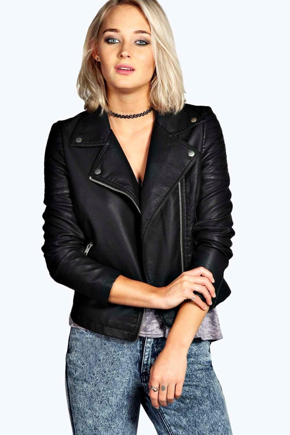 Faux Leather Biker Jacket boohoo (With images) Leather