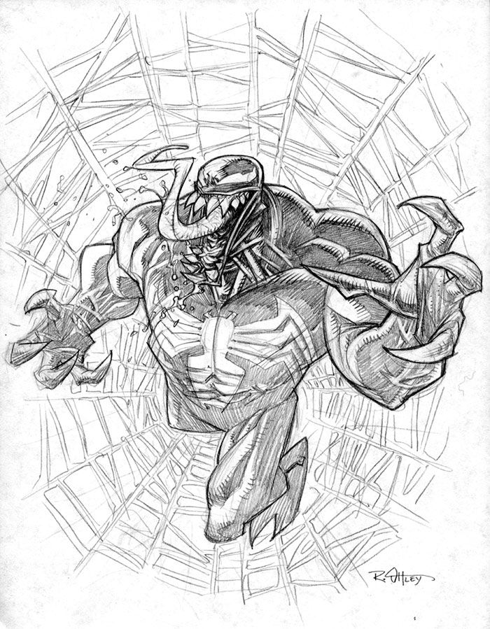 Venom sketch | Ryan Ottley | Art | Pinterest | Bocetos, Superhéroes ...