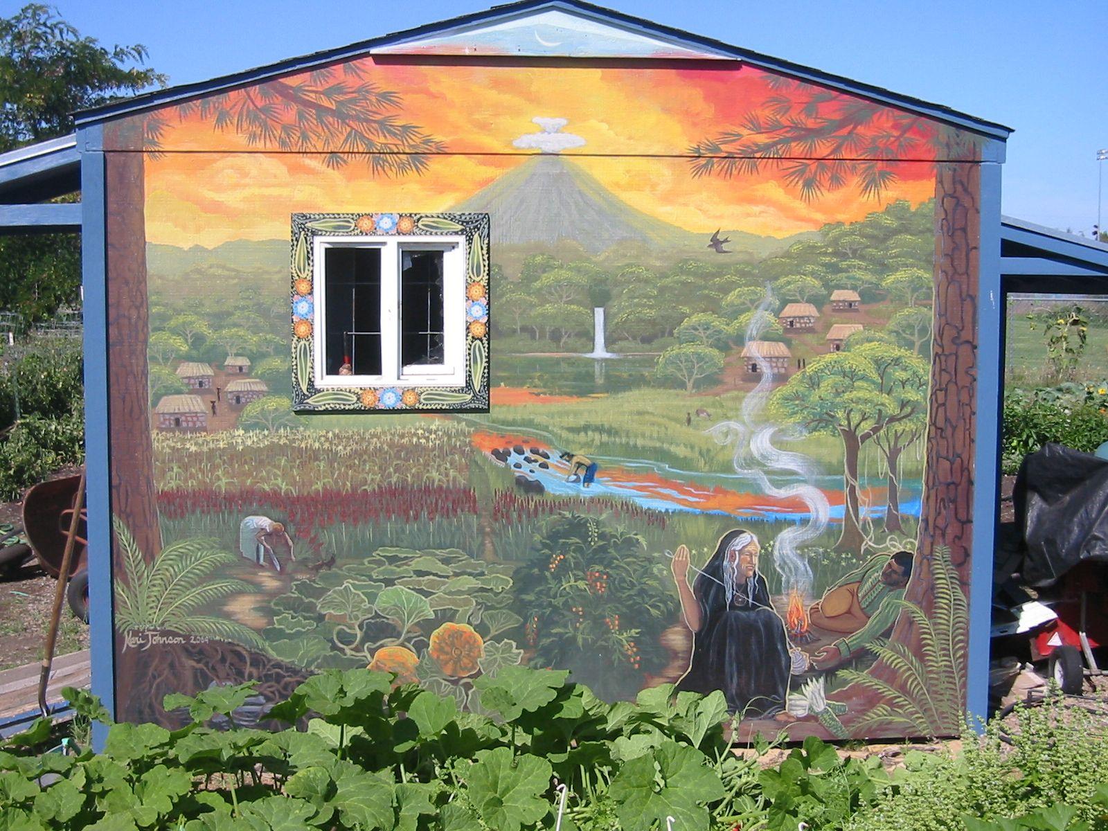 garden shed mural - Garden Sheds Eugene Oregon