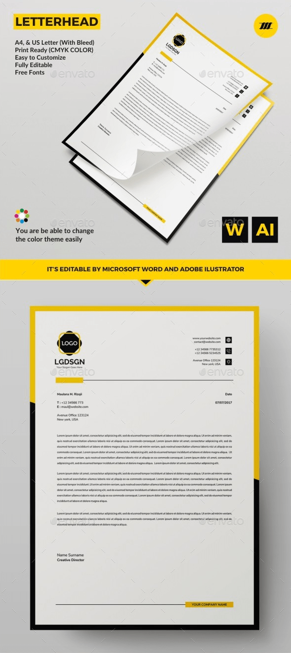 40+ letterhead templates (word, illustrator, resume english teacher example for ca fresher in word format made ms