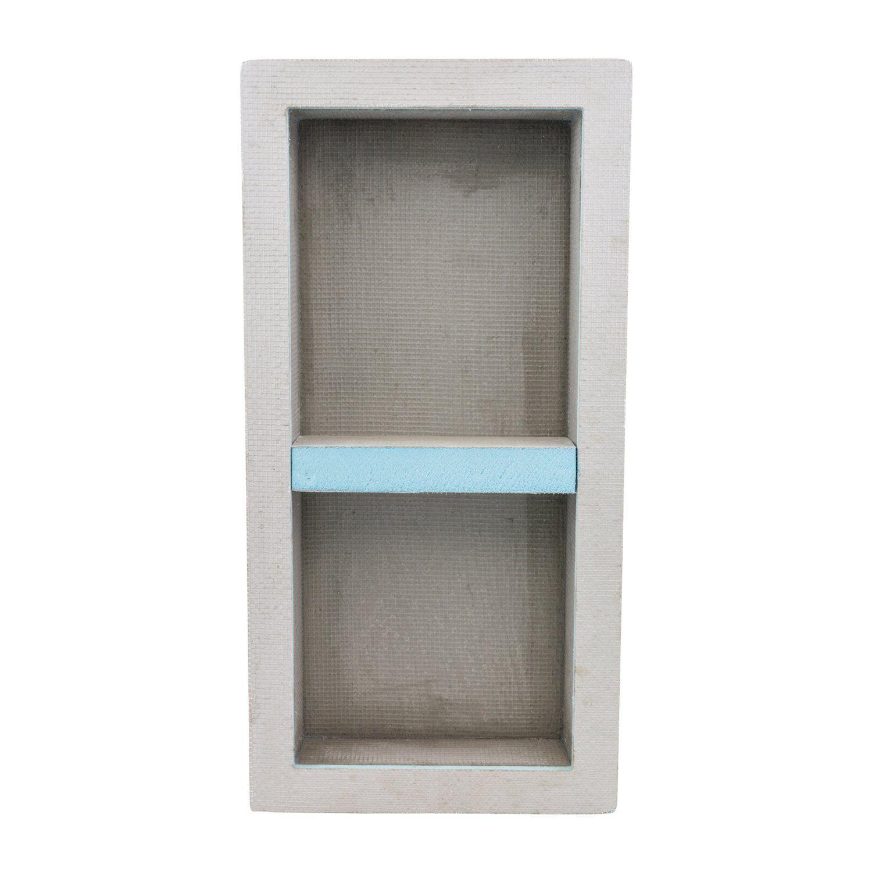 Houseables Shower Niche Insert Storage Shelf 12 X 28 Inch Leak Proof Waterproof Recessed Preformed Niches Tileable Shower Niche Tile Shower Niche Shelves