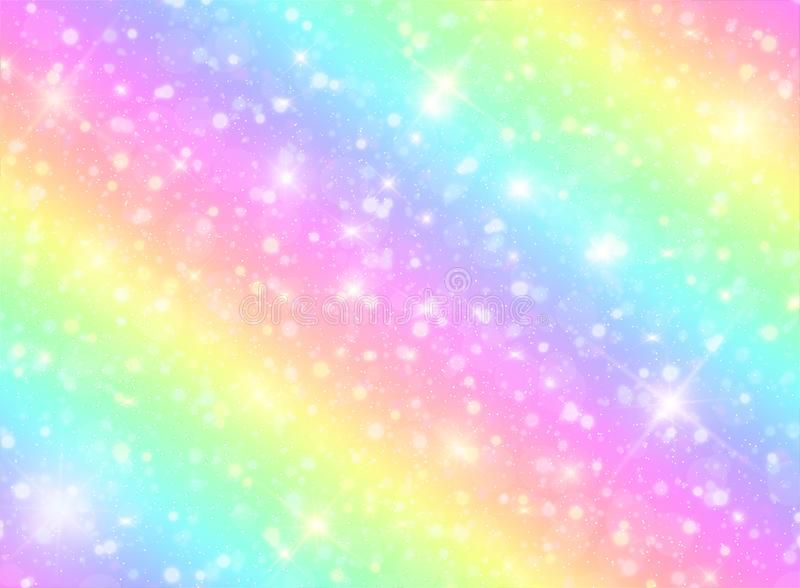 Vector Illustration Of Galaxy Fantasy Background And Pastel Color