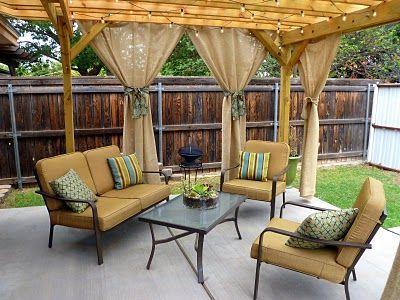 cortinas para terraza spunti Pinterest Terrazas, Cortinas y