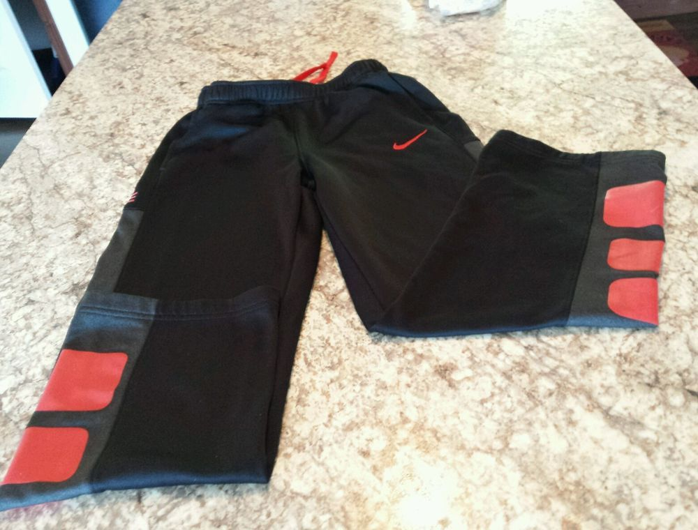 Boys nike elite basketball thermafit sweat pants size
