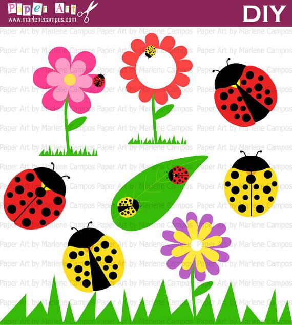 INSTANT DOWNLOAD  Lady bugs Clip Art digital by PaperArtbyMC, $4.99