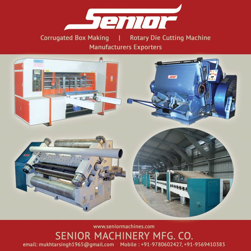 Corrugated Box Making Rotary Die Cutting Machine Manufacturers Exporters Http Www Seniormachines Com Corrugated Box Maki Corrugated Box Making Machine