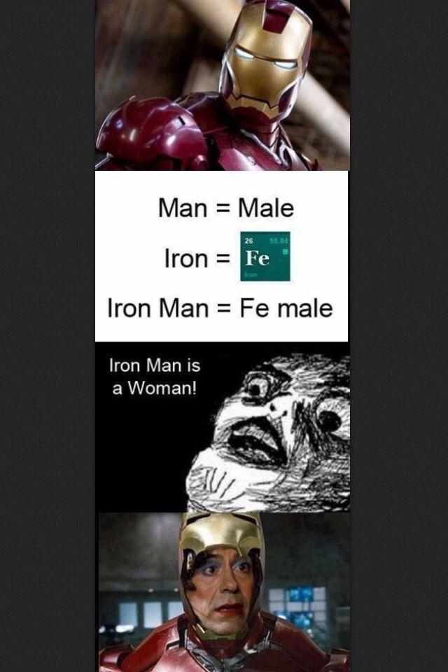 Ha ha Iron Man funny