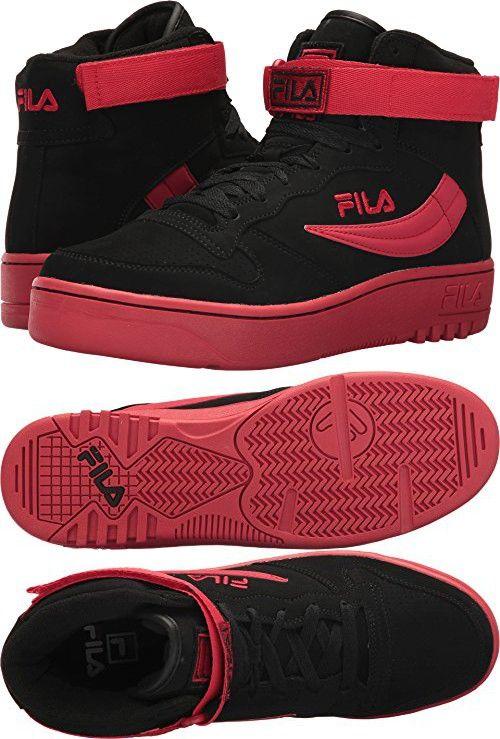 Fila Men's FX 100 BlackFila Red Athletic Shoe Fila herre  Fila mens