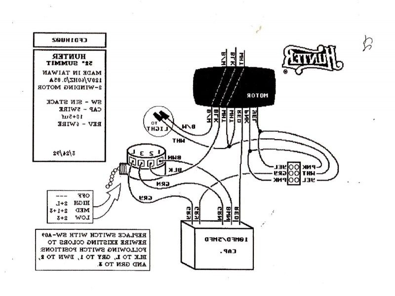 4 Wire Ceiling Fan Capacitor Wiring Diagram New Unique Wiring Hunter Ceiling Fans Ceiling Fan Wiring Ceiling Fan