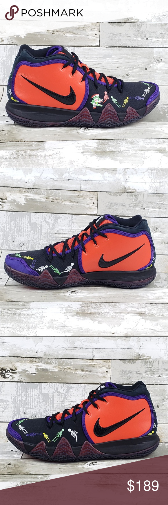 2e2c886f1cde Nike Kyrie Irving 4 IV Day Of The Dead Orange Blk Nike Kyrie Irving ...
