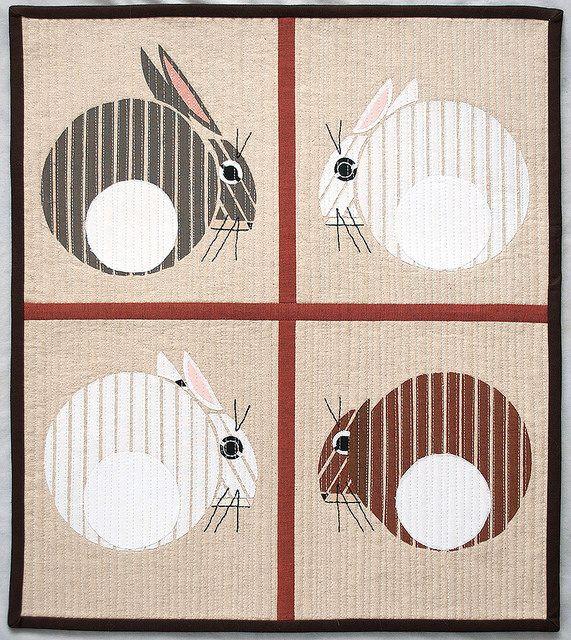 Charley Harper bunnies   Ilustraciones y Dibujo