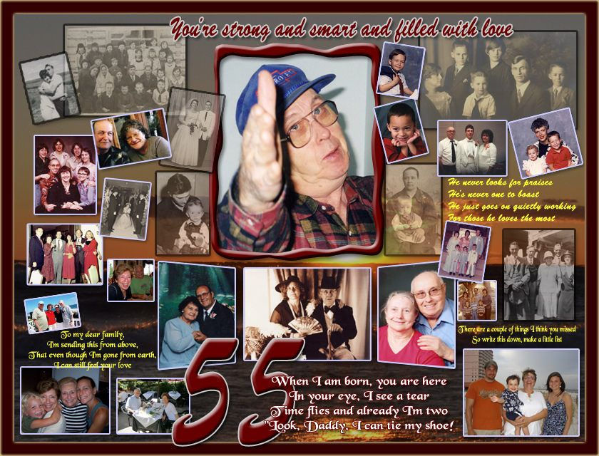 Personal 55th Birthday Gift For Husband Hubby Turning 55 Photo Collage Photoartomation
