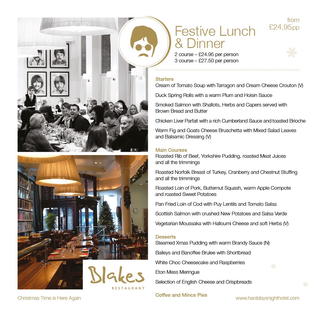Festive Lunches and Dinners in Blakes