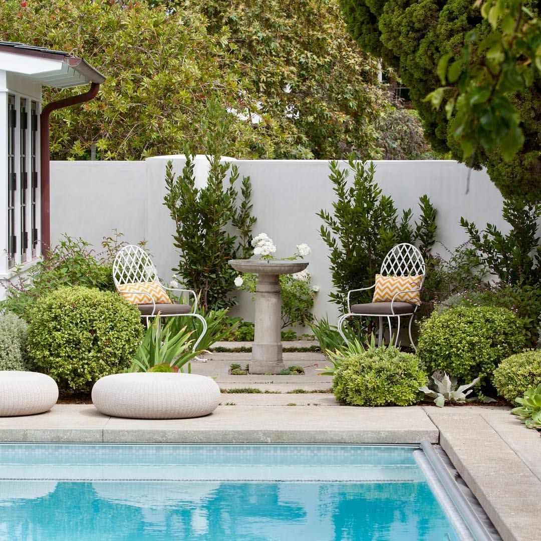 Coming Up With Good Captions For Relaxing Poolside Settings Can Be Stressful Enjoy Your Weekend P Garden In The Woods Fountains Backyard Garden Design