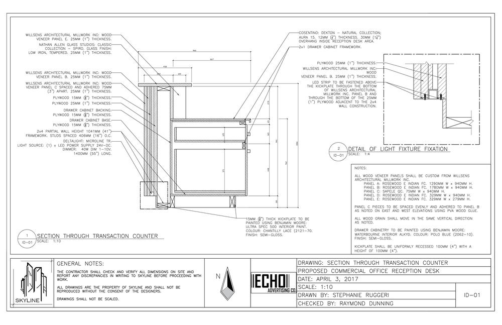 Hasil gambar untuk reception desk section detail ...