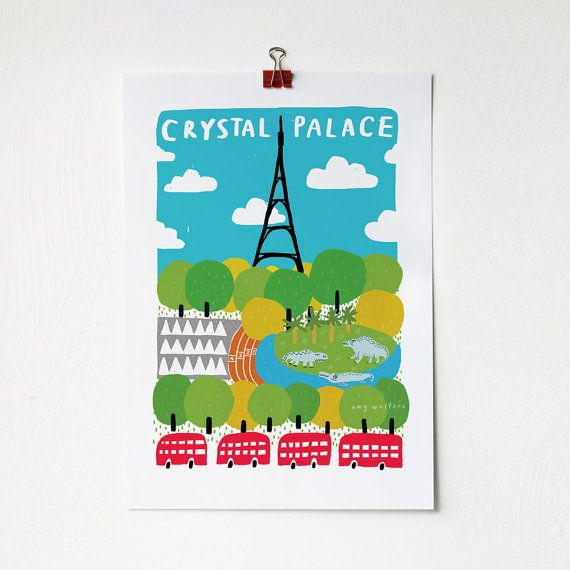 A4 Crystal Palace Print - Amy Walters | Little London | Pinterest