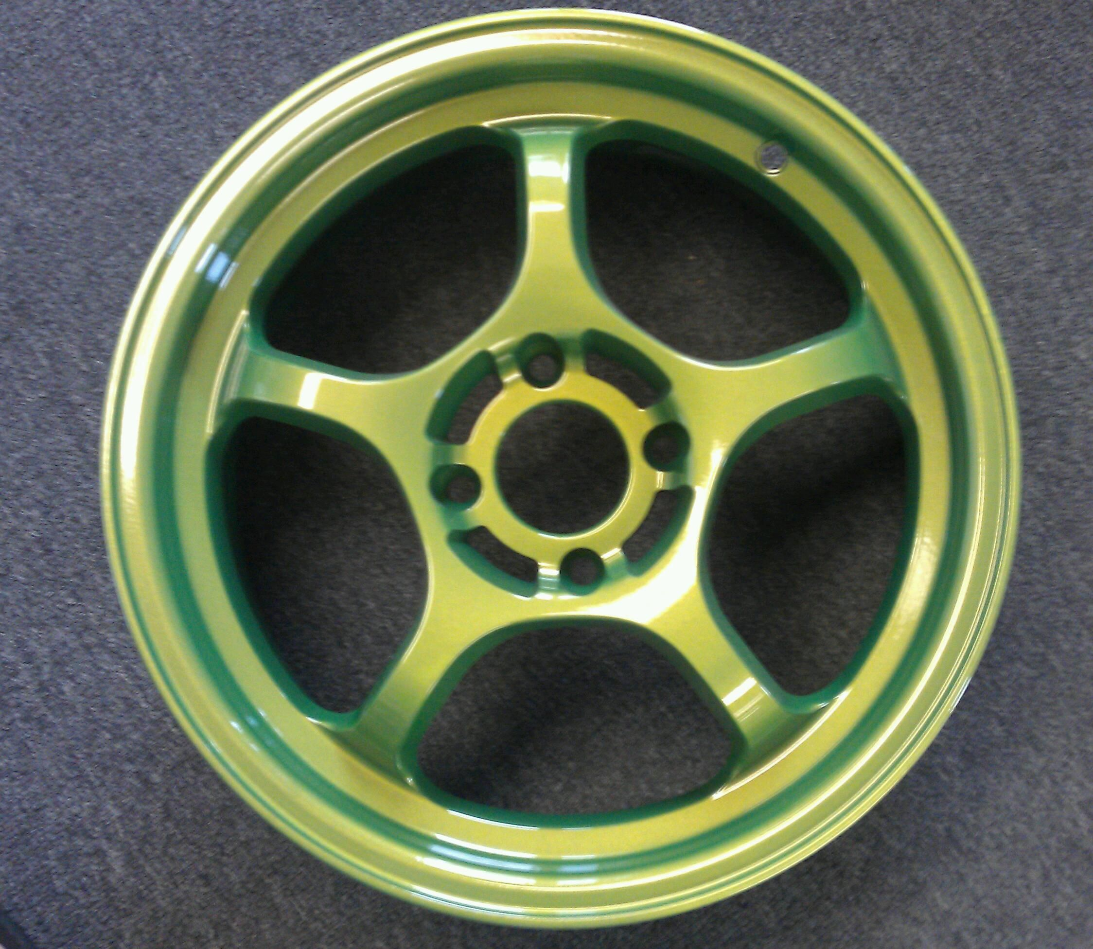 AntiFreeze Green Powder Coated Wheel by B and B Powder