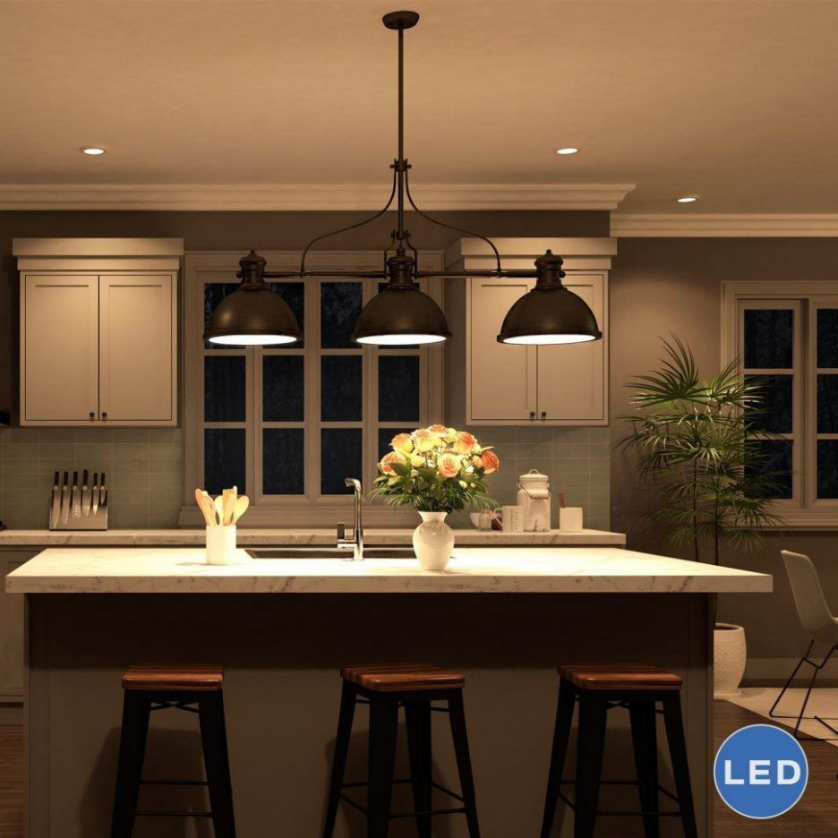 Wonderful Image Of Lighting Fixtures Over Kitchen Island