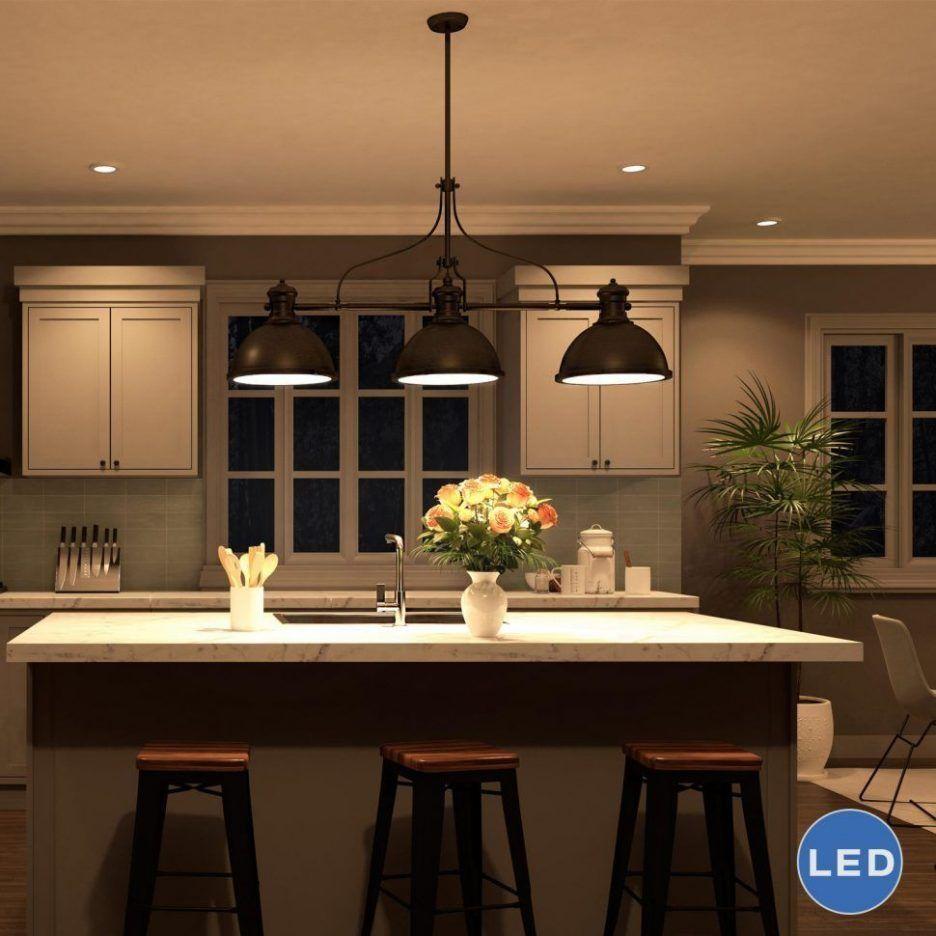 Kitchen Table Light Fixture Ideas: Wonderful Image Of Lighting Fixtures Over Kitchen Island