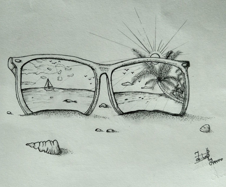 Seaside On The Frame Sunny Sea Frame Drawing Tekenen Leer Tekenen Dingen Om Te Tekenen