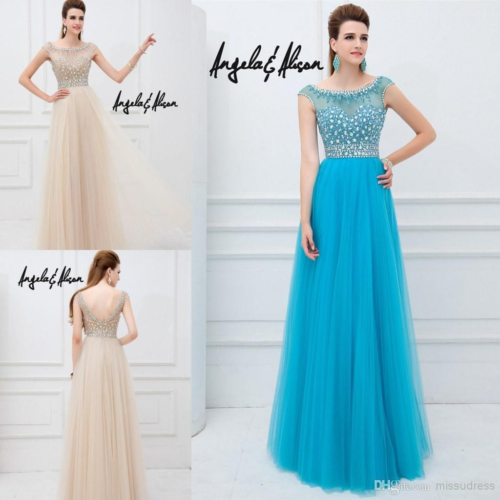 Wholesale Evening Dresses - Buy 2014 New Arrival Blue Caped Sleeve ...