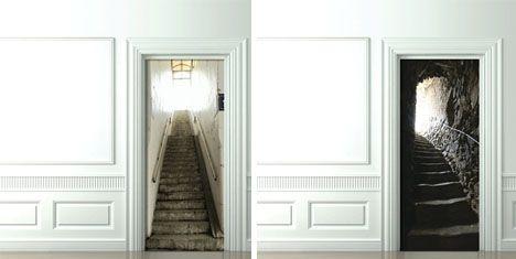 Beautiful 3D Door Decals: Photo Sticker Decor For Inside Room Doors~Like A