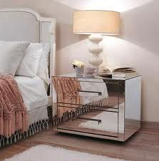 I have a huge fascination with mirror furniture.