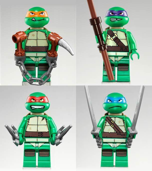 les lego tortues ninja arrivent lego lego ninja. Black Bedroom Furniture Sets. Home Design Ideas