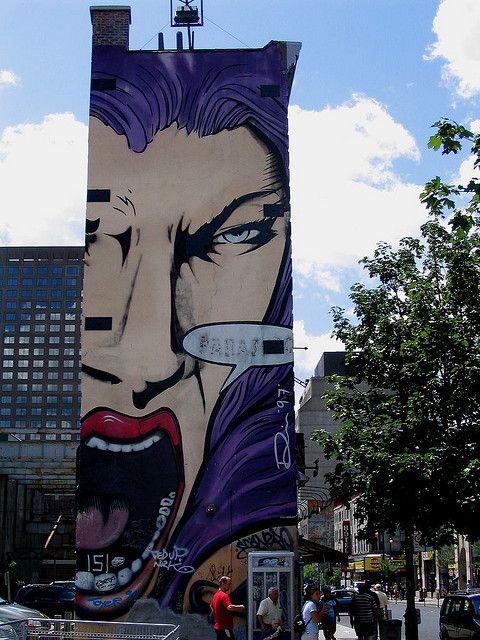 Street Art - Montreal. Flickr Photo by: dizznan
