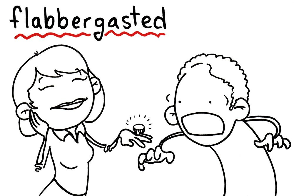 Flabbergastedu003dto Overcome With Surprise And Bewilderment; Astound .  Sentence : John Was Flabbergasted When He Was Informed That His Dad Was  Hospitalised .