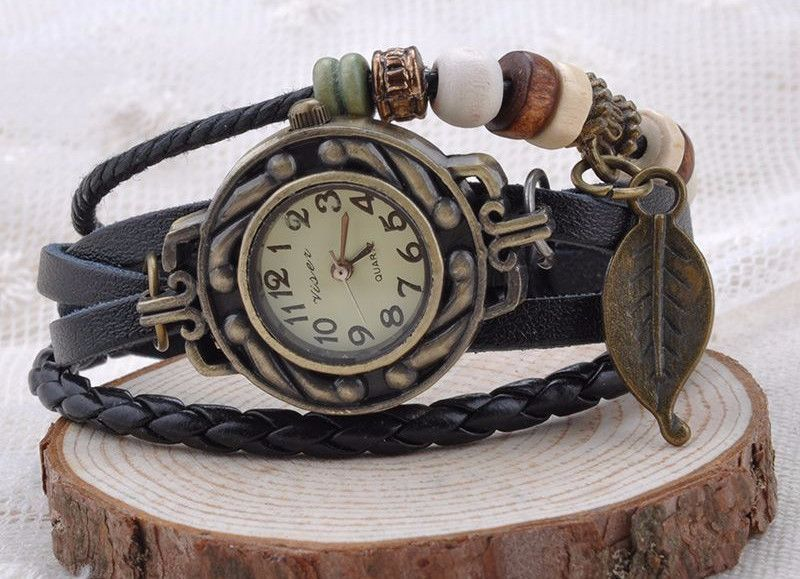 All the Time in the World Leather Watch