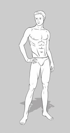 Figurine homme pour le design de mode   – Male fashion model sketches