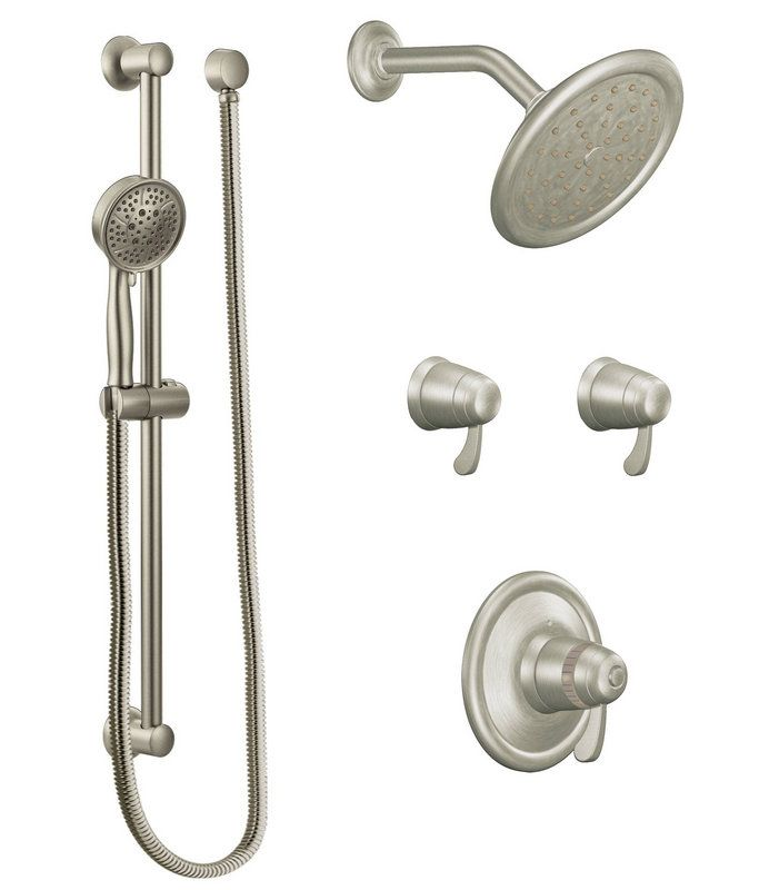 View the Moen 770 Thermostatic Shower System with Shower Head, 2 ...