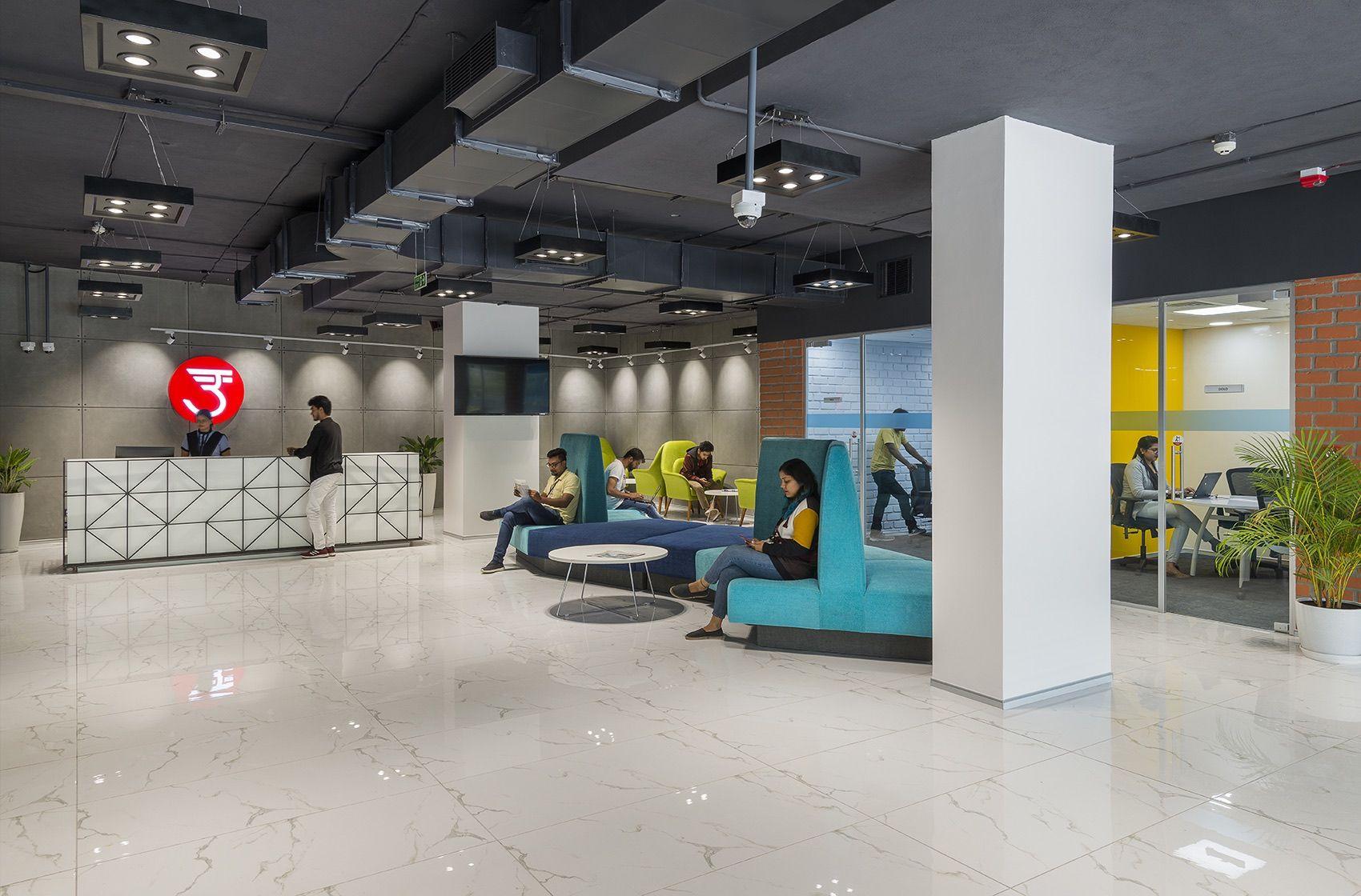 A Tour Of Udaan S Modern New Bengaluru Office Office Reception Design Design Firms Modern