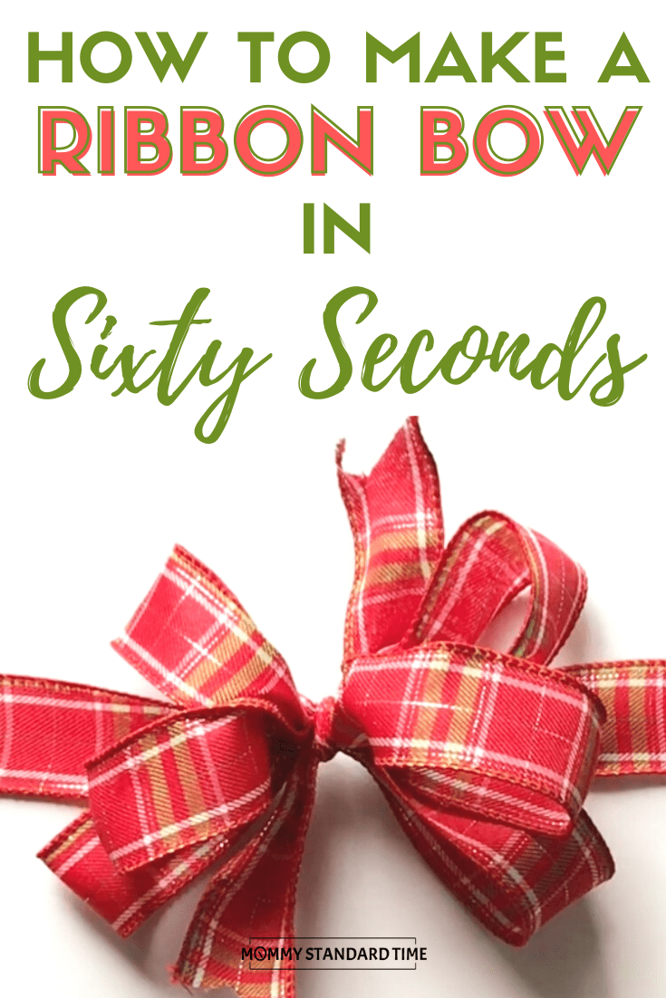 How to Make a Ribbon Bow in 60 Seconds #howtomakeabowwithribbon