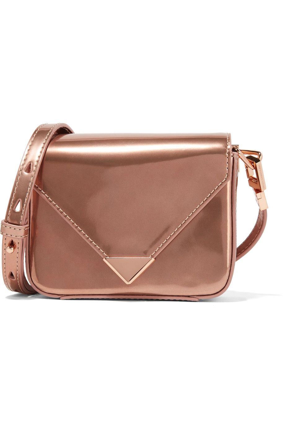 e5b28f0cc9 Shop on-sale Alexander Wang Prisma mini metallic patent-leather shoulder bag.  Browse other discount designer Shoulder Bags   more on The Most Fashionable  ...