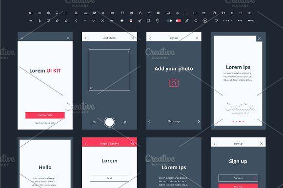 Material Design Mail App Kit Website Template Design Material
