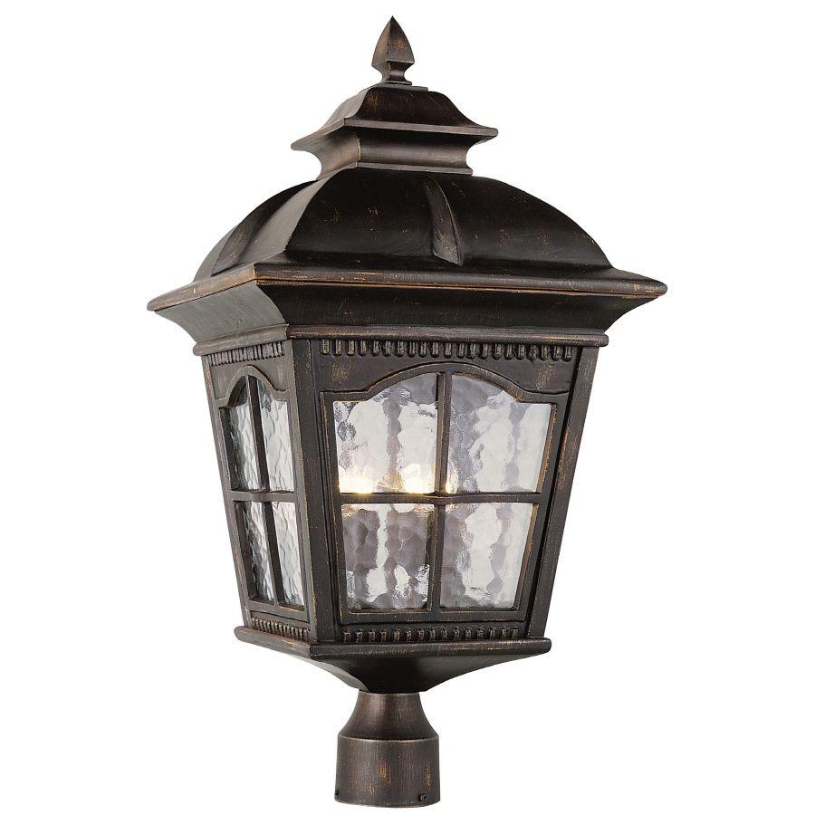 shop bel air lighting 4 light post top lantern at lowes com metal