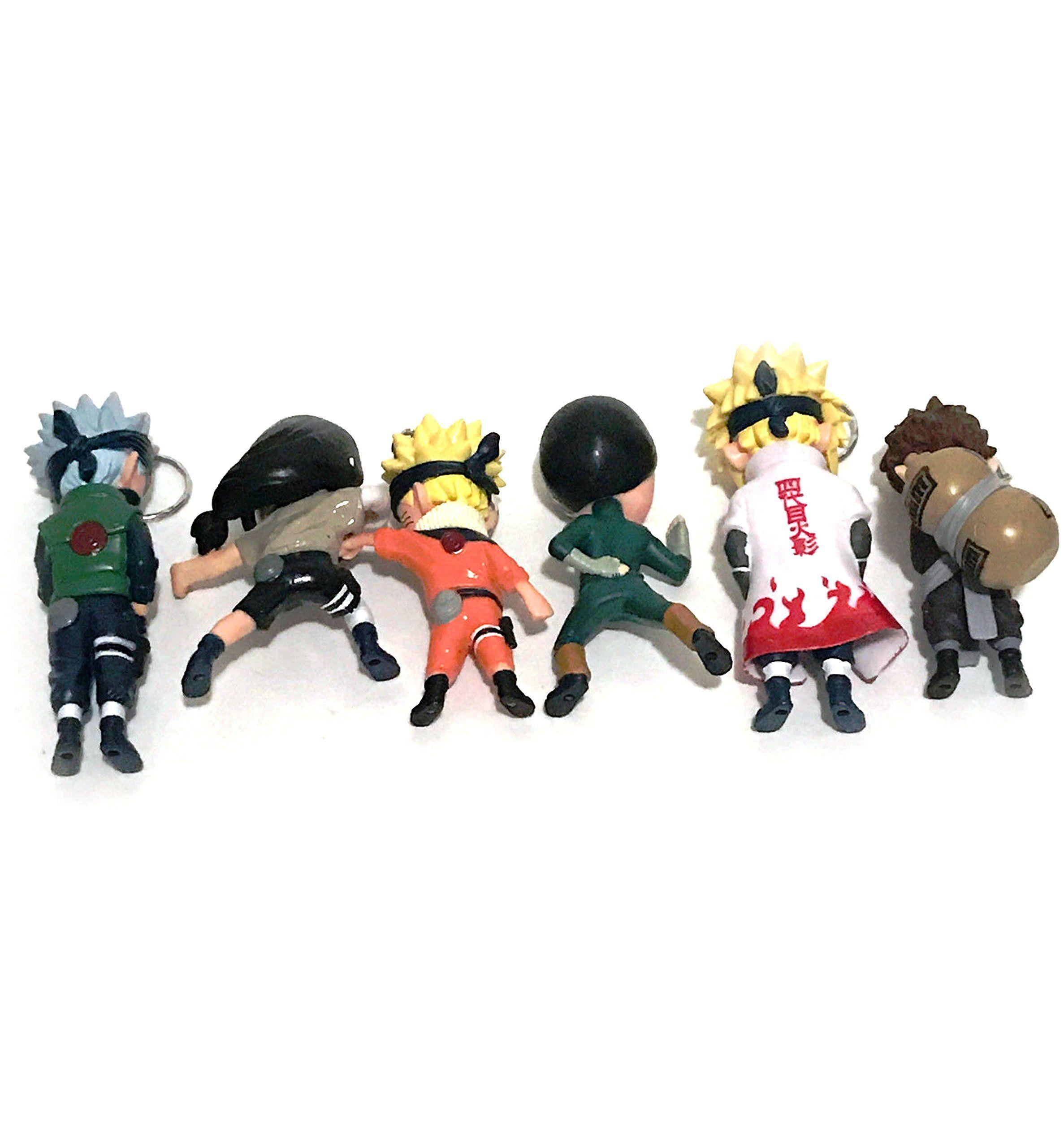 Japanese anime Naruto anime characters 6pcs Set PVC Figure 6 cm//M