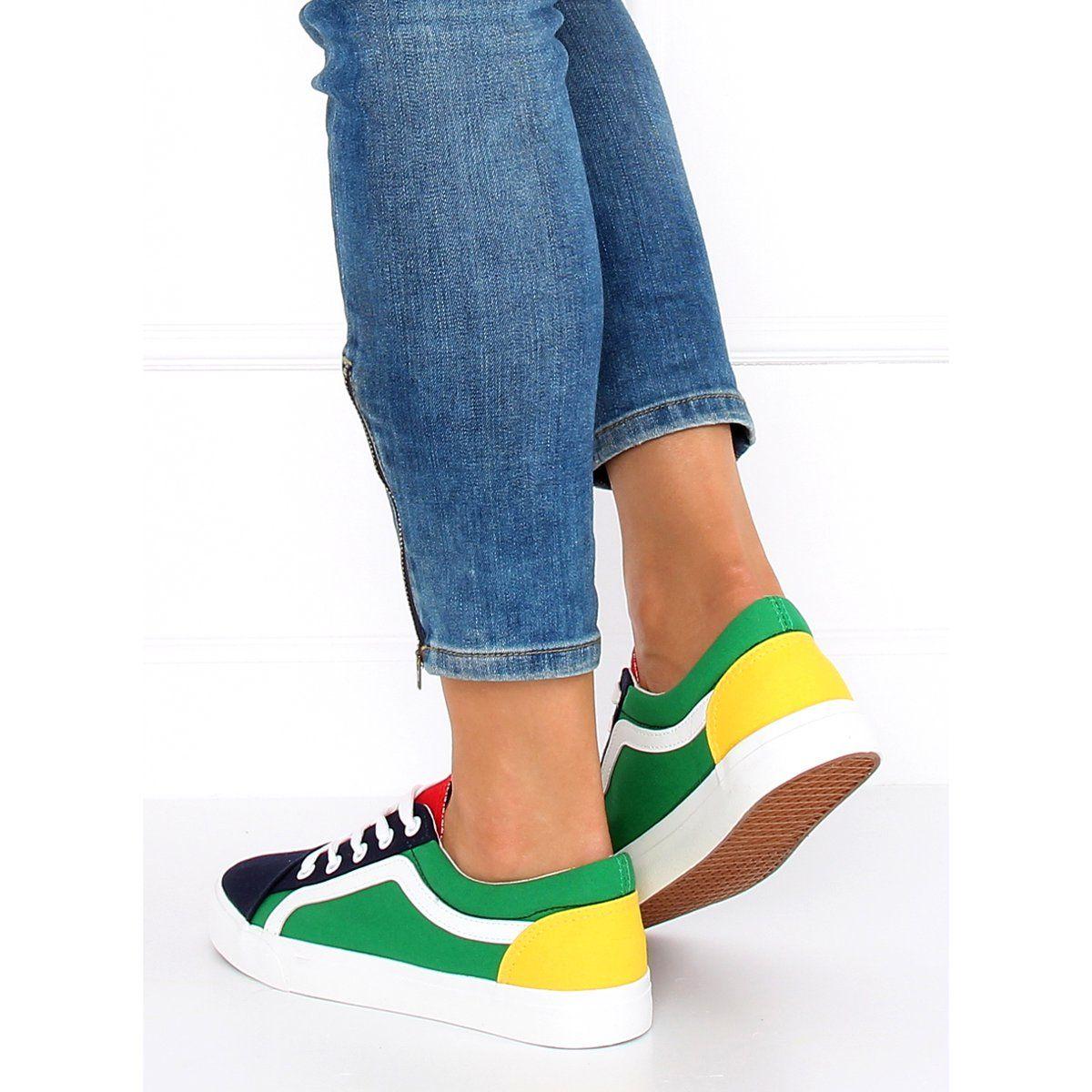 Trampki Damskie Wielokolorowe Bl156 Navy Womens Sneakers Sneakers Multicolor Womens Fashion Sneakers