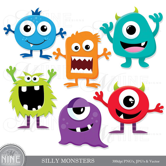 Silly Monsters Clip Art Monster Clipart Downloads Monster Party Monsters Theme Monsters Scrapbook Clipart Vector Monsters Monster Clipart Monster Quilt Monster Party