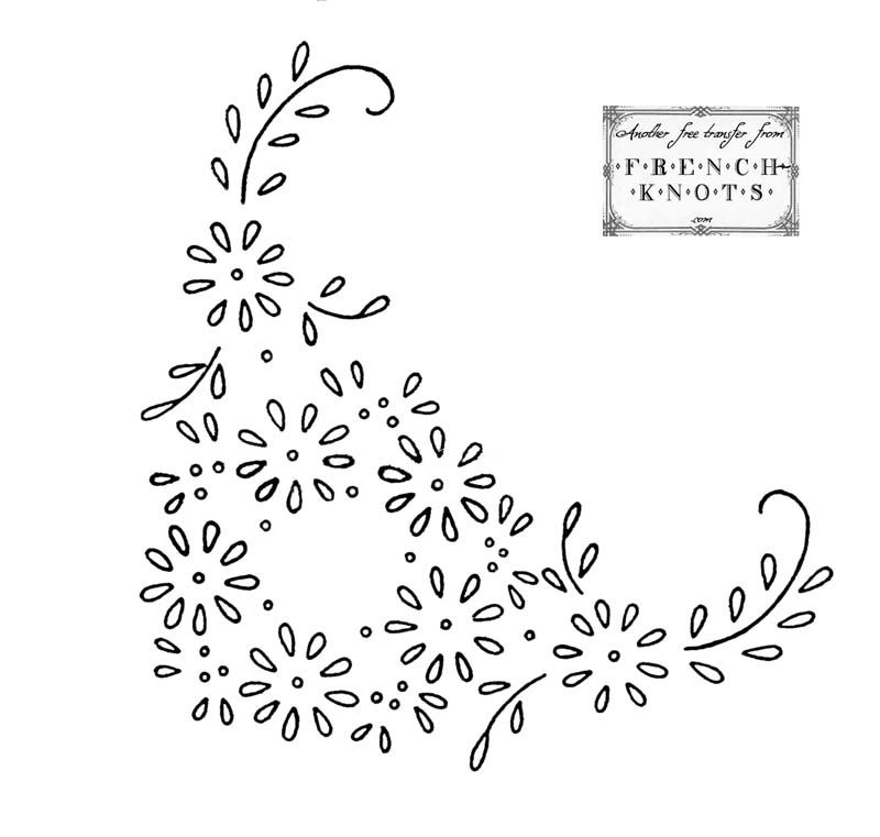 Hearts and Flowers Embroidery Transfer Patterns   Pinterest ...
