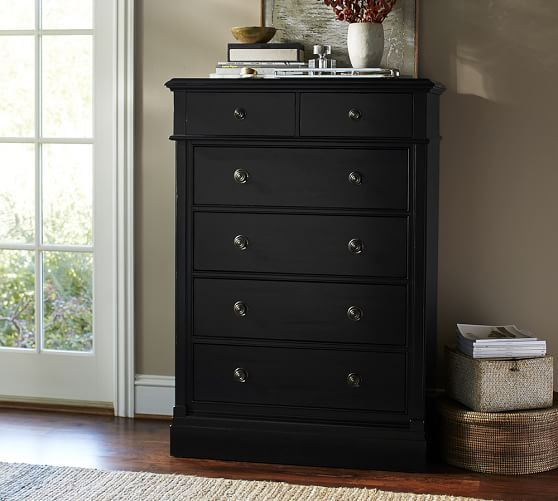 Pottery Barn's chest of drawers and bedroom dressers offer heirloom-quality  design. Bedroom dressers and chest of drawers offer storage and style. - Branford Tall Dresser Pottery Barn 38.5