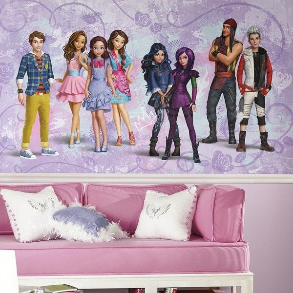 Disney S Descendants Wall Mural By Roommates 155 Liked On Polyvore Featuring Home Home Decor Wall Art Multicolo Removable Wall Murals Wall Murals Mural
