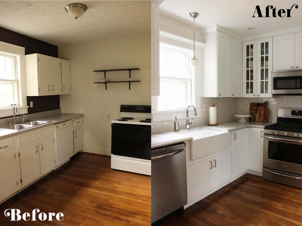 Before After Small Kitchen Remodeling Ideas On A Budget Kitchen